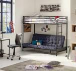 lit mezzanine avec banquette studio 2 noir