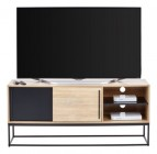 meuble tv industriel vincente noir/checircne