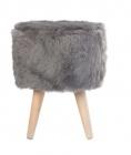 pouf o 30 cm snow gris