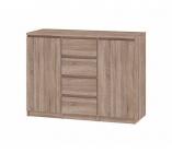 rangement 2 portes / 4 tiroirs best imitation checircne griseacute