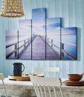 set 5 toiles 100x150 cm baltique multicolore