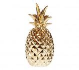 statue h 18 cm ananas doreacute