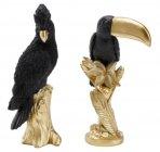 statue h 32 cm perroquet toucan rose / prune