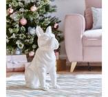 statue h 51 cm bobby blanc