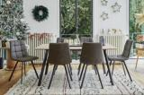 table 6 chaises savina imitation chene sonoma