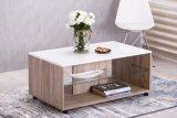 table basse avec roulettes bert checircne gris/blanc