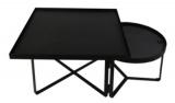 table basse bahia meacutetal noir