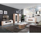 photo   Table basse BELLINI décor chêne/blanc