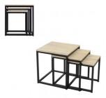table basse gigogne neva industrielle checircne/noir