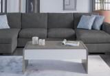 table basse giulia effet beton/blanc