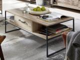 table basse l120 roof bois de palettes vieilli