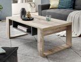 table basse loris imitation bois et beton gris