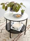 table basse marbela noir/ blanc