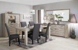 table de seacutejour l190 cm stone checircne gris