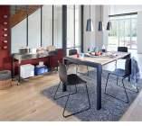 table rectangle 2 allonges camden checircne sonoma/noir