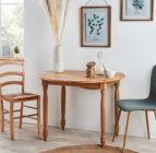 photo Table ronde + 2 abattants Faustine chêne naturel