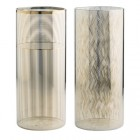 vase en verre h 28 cm clea doreacute
