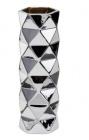 vase h 30 cm facettes silver