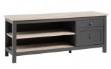 zandiara meuble tv bocage chene san remo/gris anthracite