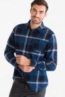 chemise en flanelle - slim fit - col kent angelo litrico