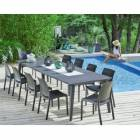 allibert - ensemble 1 table et 8 chaises volga