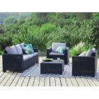 allibert - ensemble 2 fauteuils 1 sofa 1 table basse