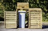 cache-poubelles bois nettis