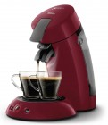 cafetiere senseo original - hd6553/81 - rouge rio