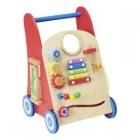 carrefour baby- trotteur en bois avec 6 activites - ty77210