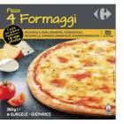carrefour - pizza 4 fromages cuite sur pierre surgelee