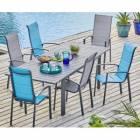 hyba - ensemble 1 table et 6 fauteuils