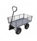 chariot de jardin multi-usage a bascule - acier