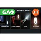 gao - lampe de secours 3 en 1
