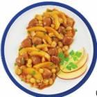 marrons entiers cuisines aux pommes et aux raisins