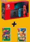 pack switch jeux lego dc supervilains pokemon lg evoli