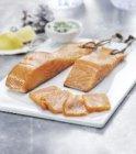 pave de saumon fume ficelle