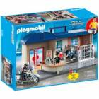 playmobil- commissariat de police transportable - 5299