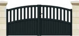 portail havane battant 3 m gris ral 7016