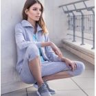 tex sportwear - sweat-shirt wellness col montant