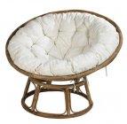 papasan chaise lounge naturel blanc casse
