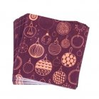 set de 20 serviettes diverses couleurs baubles
