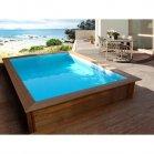 piscine bois rectangle toledo