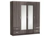 armoire 4 portes 4 tiroirs pop