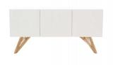 buffet 3 portes sven coloriis blanc/imitation chene clair