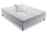 ensemble matelas sommier 2 oreillers le genereux 140 x 190 cm
