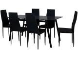 ensemble table 6 chaises melvin