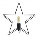 lampe 28 cm star coloris noir