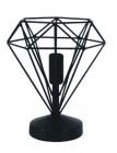 lampe en metal diamant coloris gris