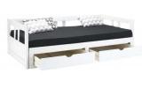 lit banquette 90x190 cm melody 2 coloris blanc
