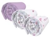 lot de 3 draps-housses frozen pastel 90 x 190 cm